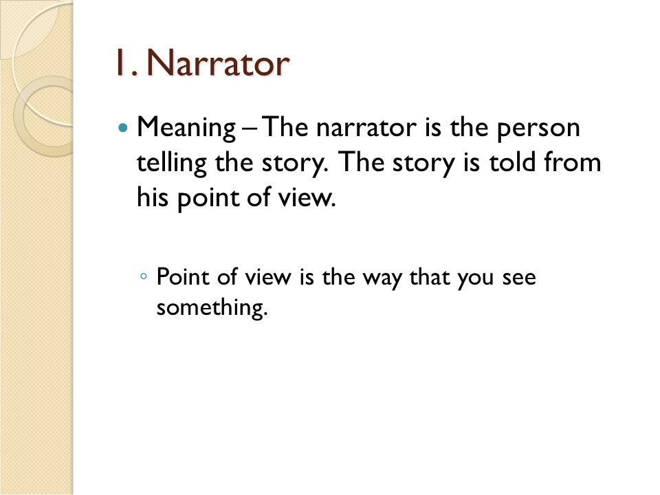 narrative express meaning