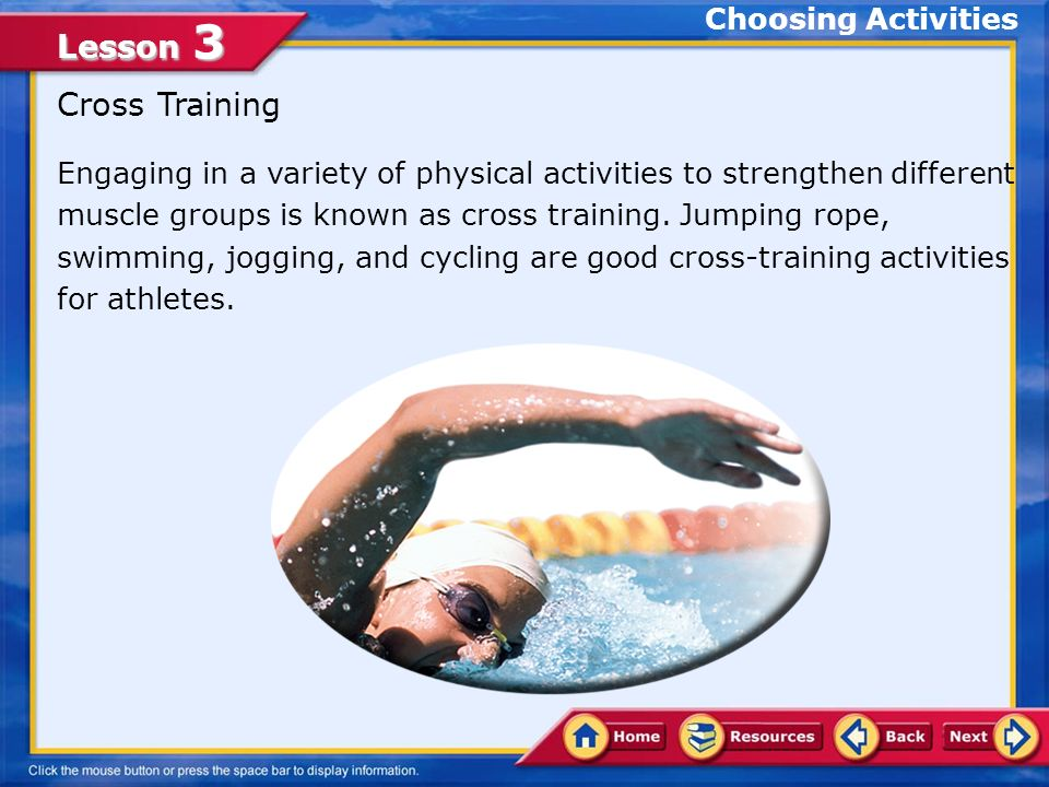Planning a Personal Activity Program