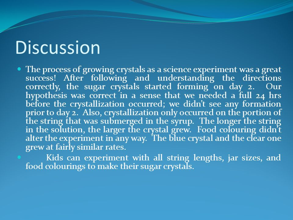 how to make sugar crystals in one day