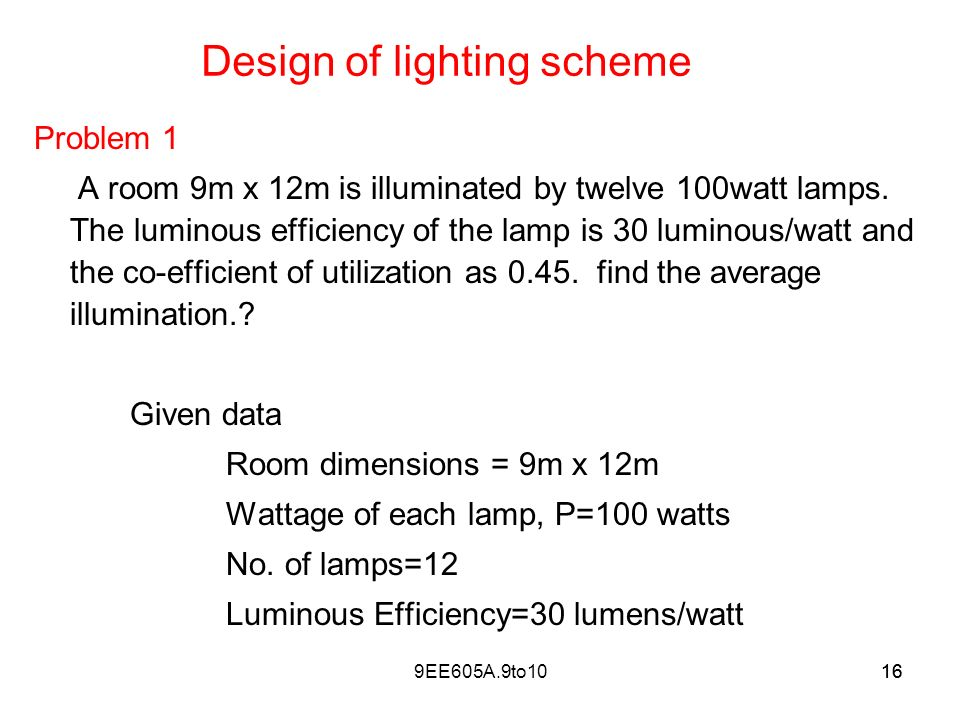 lighting scheme. Design Of Lighting Scheme