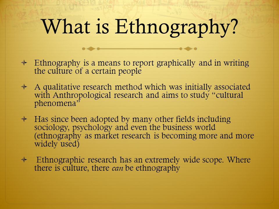 Visual Ethnography, M.Sc.