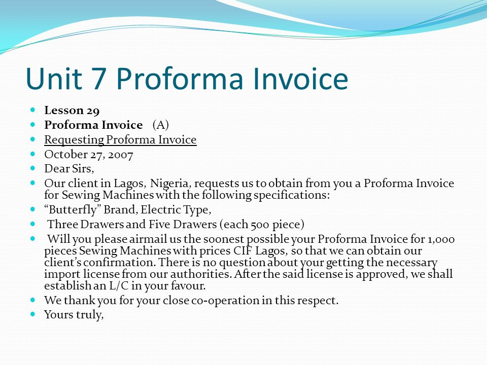 Uscis Receipt Word Eglish Business Letter  Ppt Download How To Create An Invoice Template In Word Pdf with American Depository Receipts Adr Pdf Unit  Proforma Invoice Lesson  Proforma Invoice A Painting Invoice Template Pdf