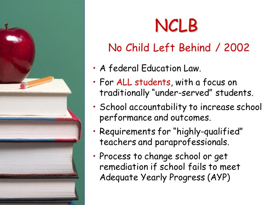 no child left behind essay questions Info quest #3 no child left behind act why do we have the no child left behind act does this act impact schools, teachers, families, and its children in a positive way or in a negative way.