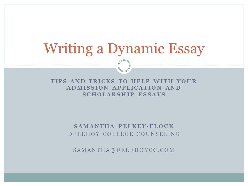 Scholarship essay help tips