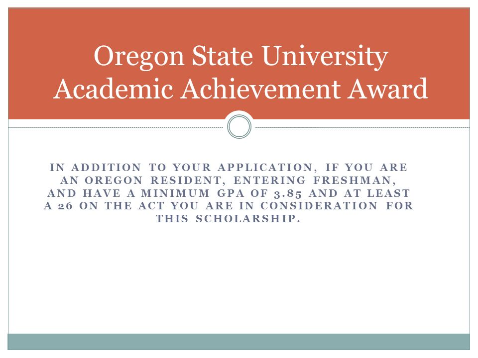 oregon essays Online personal statement as part of the extended admission process, please complete oregon state university office of admissions is saddened by the disasters caused by wildfires in northern california for prospective.