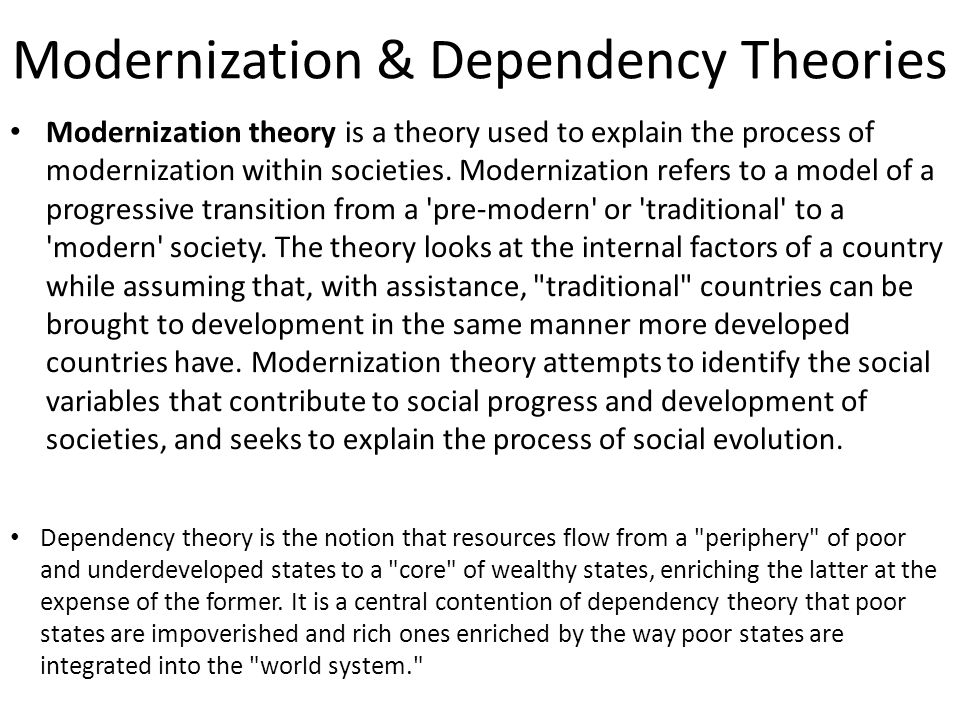 characteristics of dependency theory