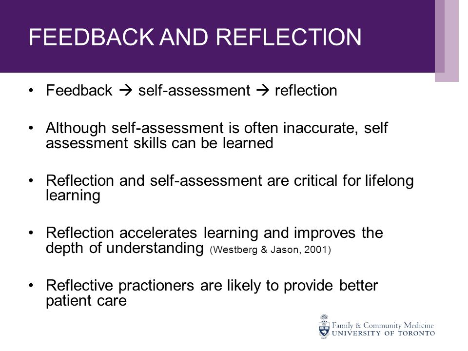 Self assessment and reflection paper your personal learning