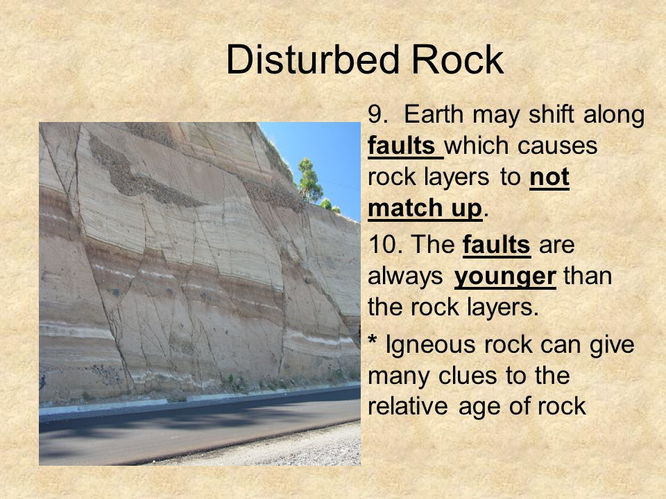 igneous rock relative dating The simplest situation for a geologist is a layer cake succession of sedimentary or extrusive igneous rock units the integration of relative dating and.