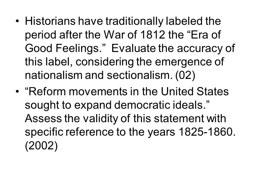 The reform movements dbq