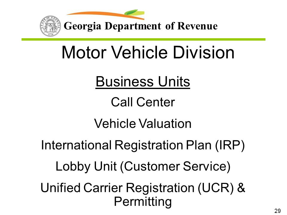 georgia department of revenue vehicle registration