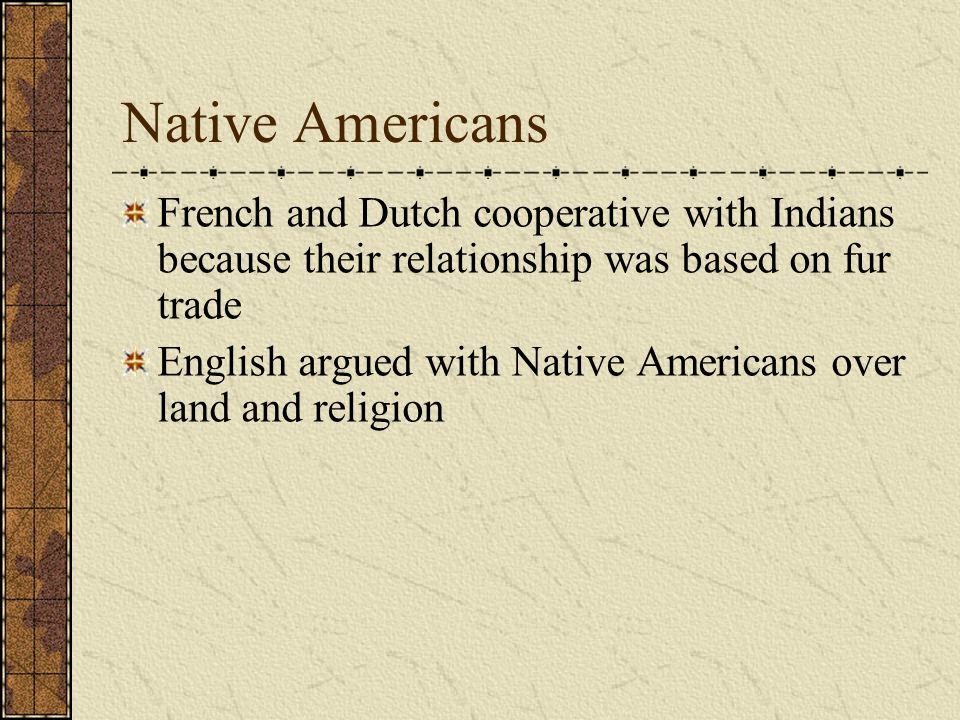 french and native americans relationship
