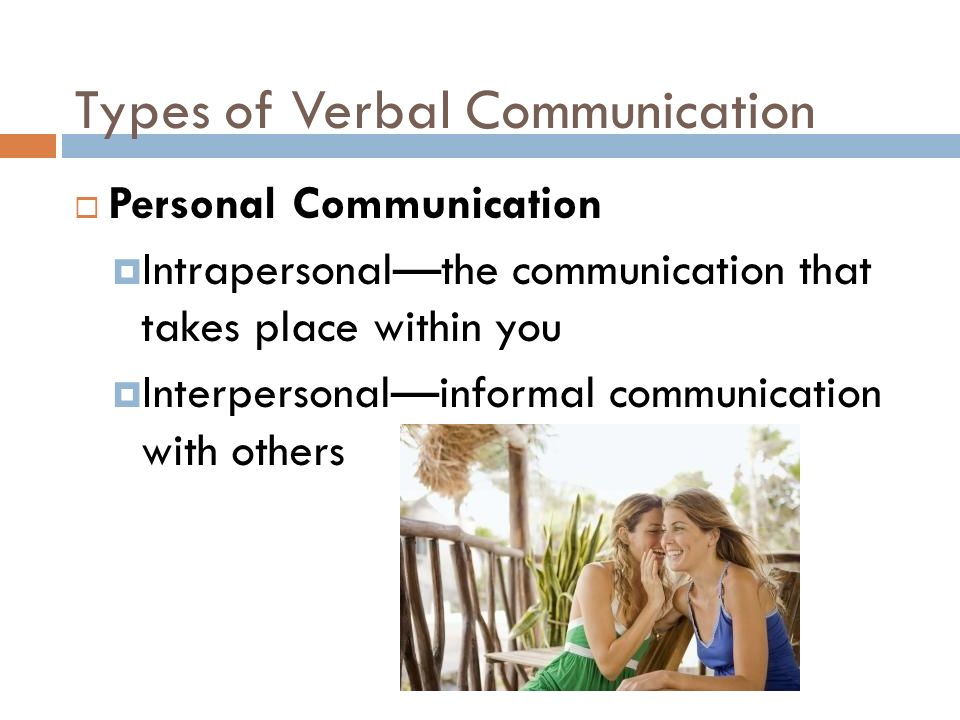 different types of verbal communication Ambiguous words/phrases that sound the same but have different meanings types of communication include verbal, written, and nonverbal.