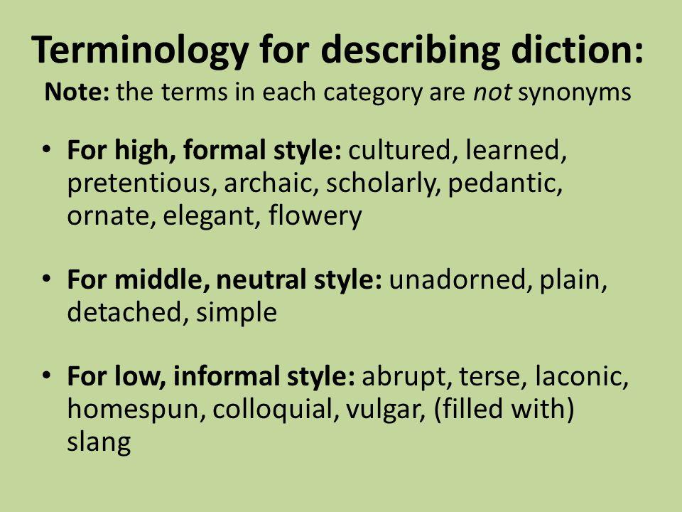 describe diction essay