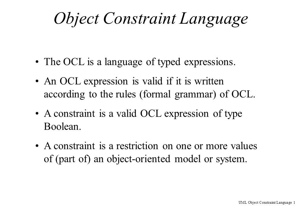 Object Constraint Language - p...