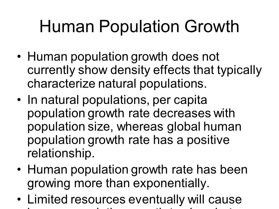 relationship between human population and natural resources