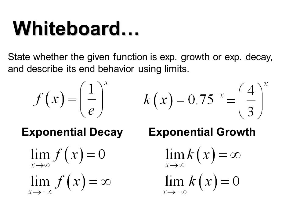 limits of exponential functions pdf
