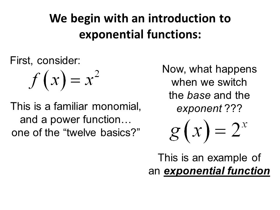 introduction to exponential functions pdf