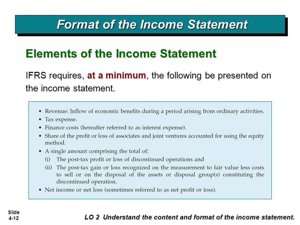 formats of income statement