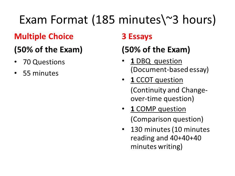 exam 1 essay
