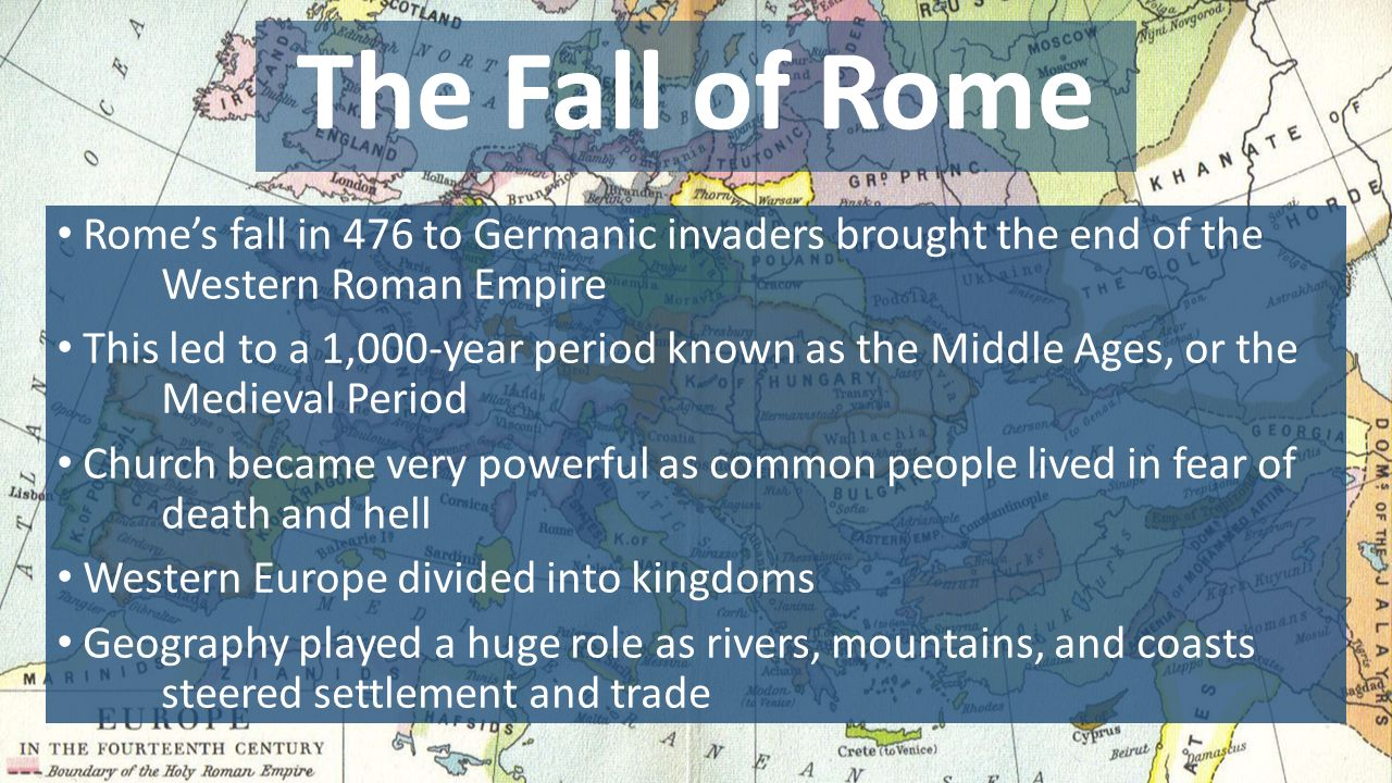 the influence of the fall of the roman empire on europe Can the demise of a government 1,500 years ago have repercussions felt around the globe centuries later if that government is the powerful roman empire, it can from first century bc through fifth century ad, the romans ruled over an empire that stretched across much of europe, the middle east, and north africa.