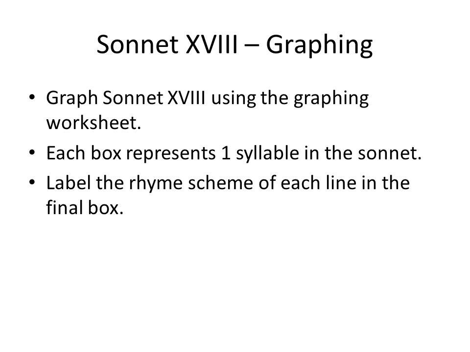 The Sonnet Objectives SWBATD ppt download – Sonnet Worksheet