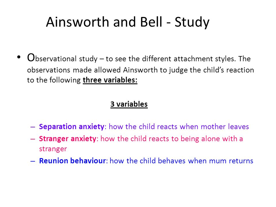 A longitudinal study of maternal attachment and infant ...