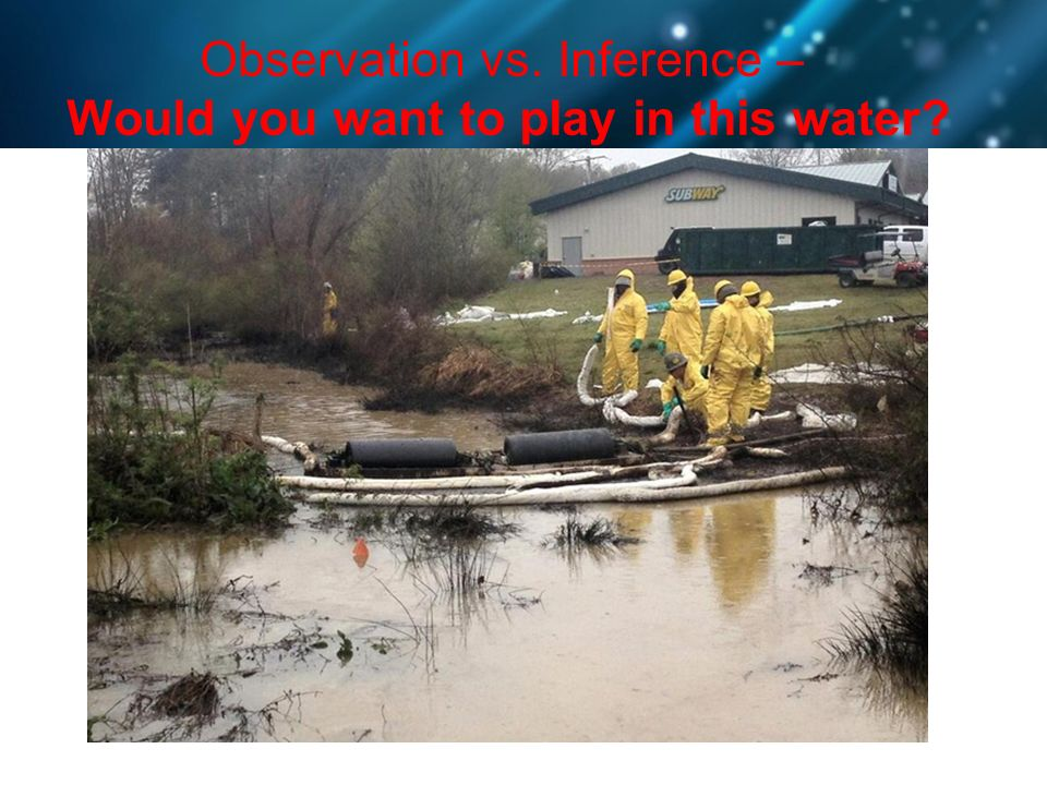 Observation vs. Inference – Would you want to play in this water