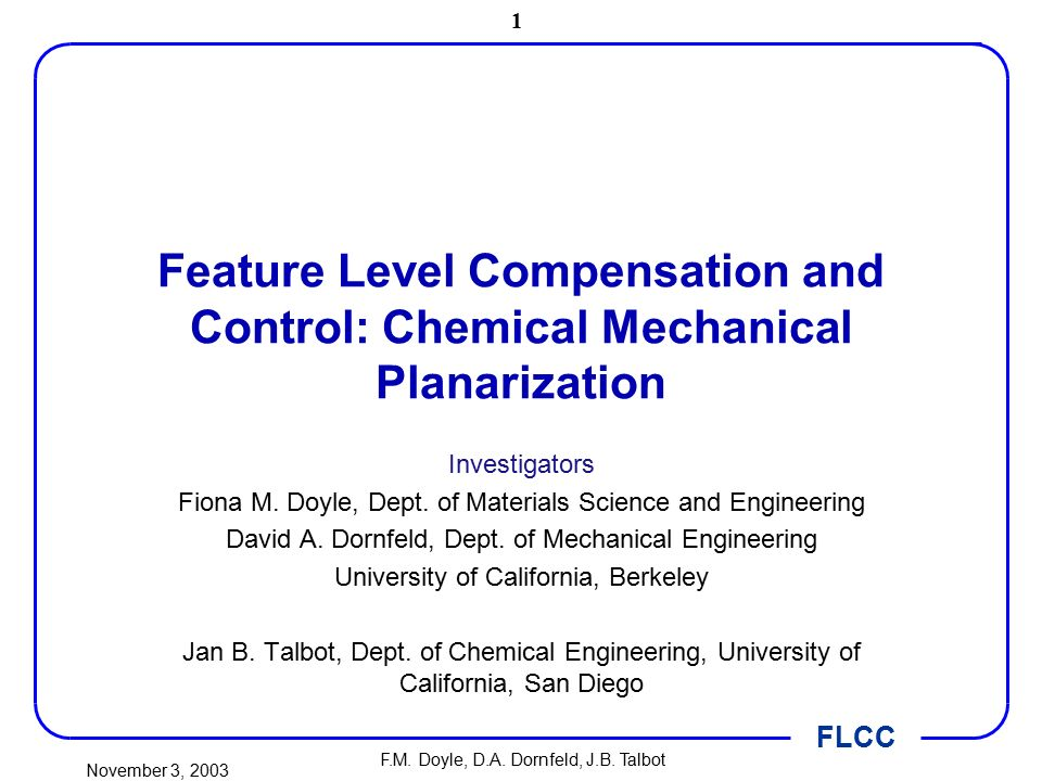 Feature level compensation and control chemical mechanical feature level compensation and control chemical mechanical planarization sciox Choice Image