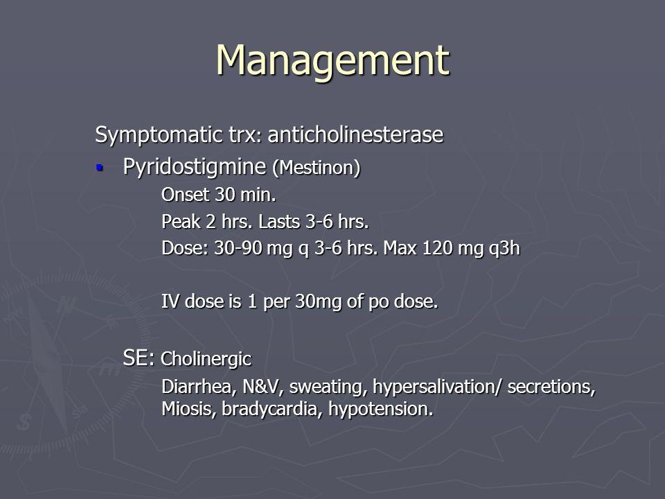 Mestinon mayo clinic