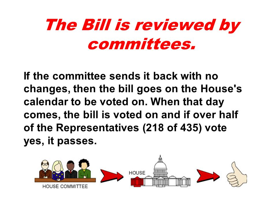 The Bill is reviewed by committees.