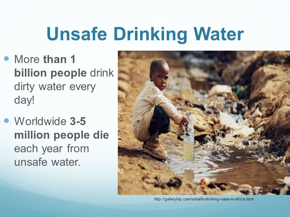 unsafe drinking water essay When the water in our rivers, lakes, and oceans becomes polluted it can  endanger wildlife, make our drinking water unsafe, and threaten the.