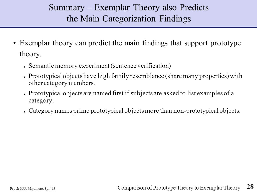 exemplar theory View exemplar theory research papers on academiaedu for free.