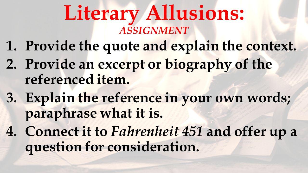 Quotes From Fahrenheit 451 Fahrenheit 451Ray Bradbury  Ppt Download