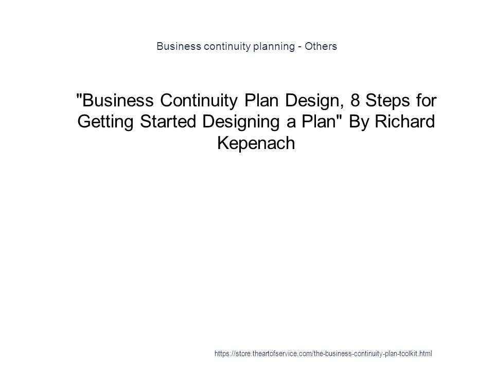 A Guide to Business Continuity Planning - PDF Free Download