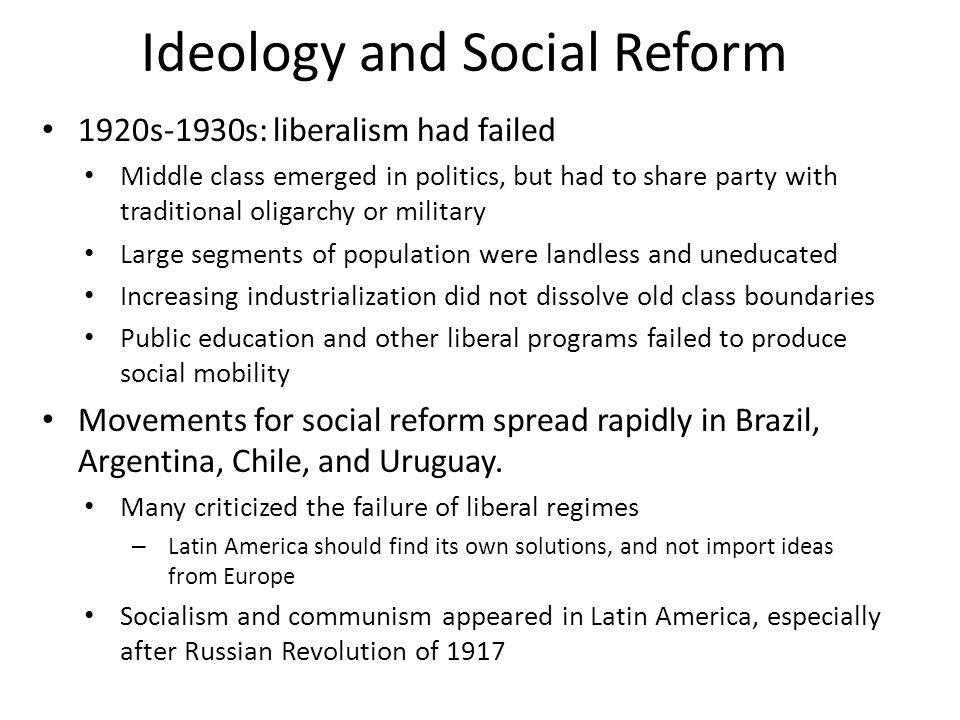 movements for liberal reform and revolution This was sold as a liberal revolution, not a socialist revolution  he had  repeatedly made it clear that the reforms he wanted to see in cuban  others  believe that mr castro was caught between his movement's liberal and.