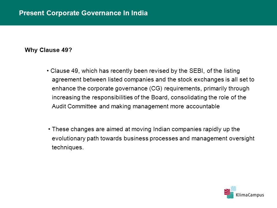 Corporate Governance In India  Ppt Video Online Download