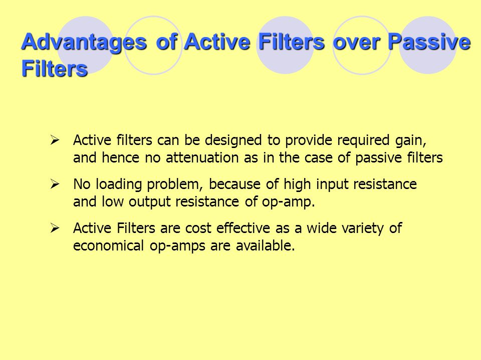 Passive Electronic Filters Essay Sample