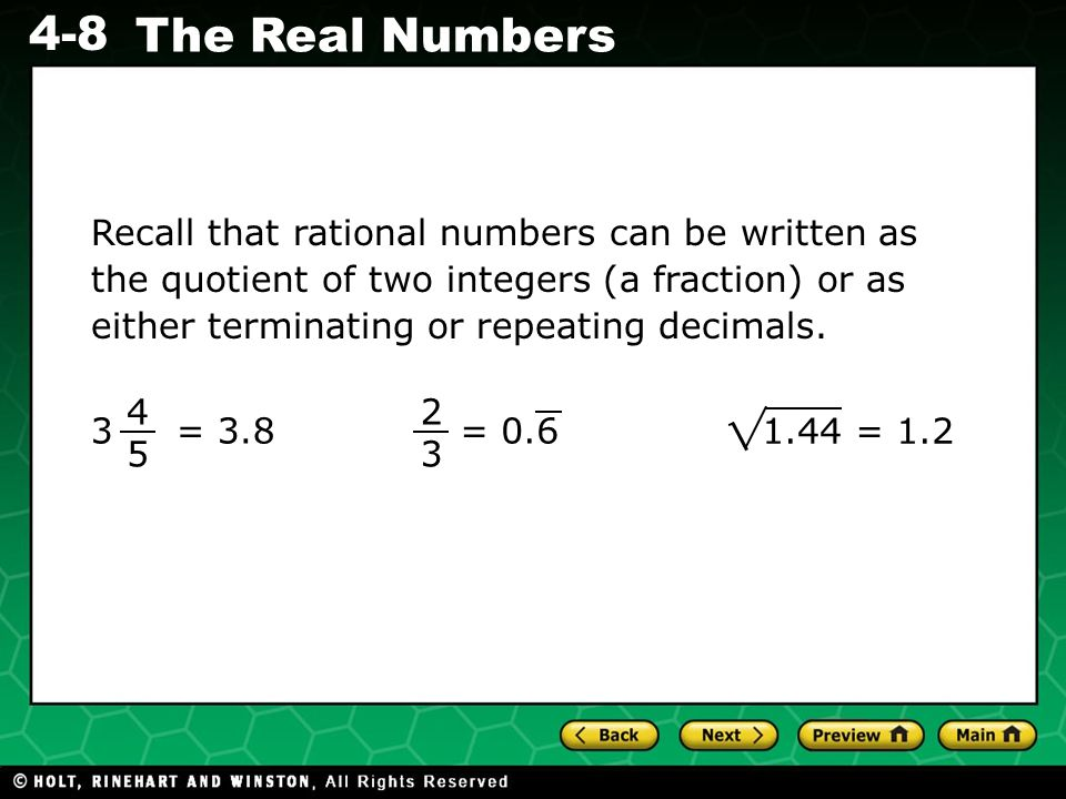 What is the top number of a fraction called?