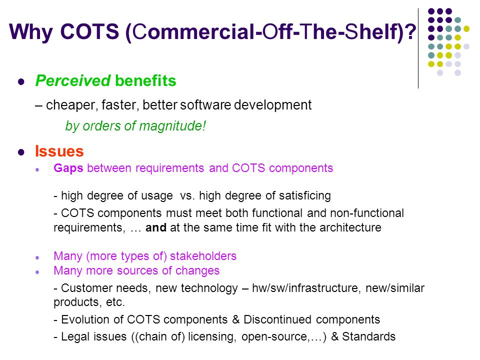 Cots Aware Requirements Engineering And Software