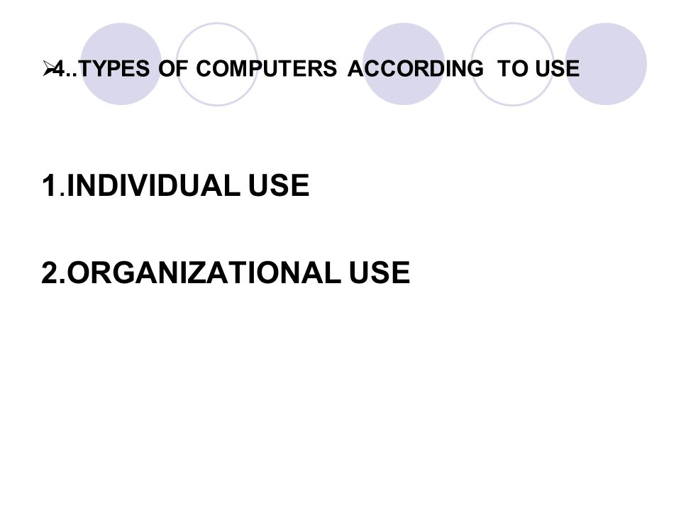 classification of computer users The long-term use of computers has been linked to a range of  then the worker  should be classified as a display screen equipment user (if.
