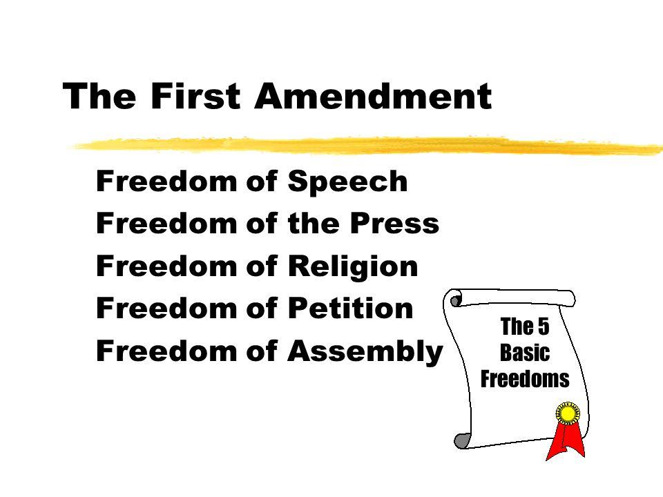 first amendment and free speech
