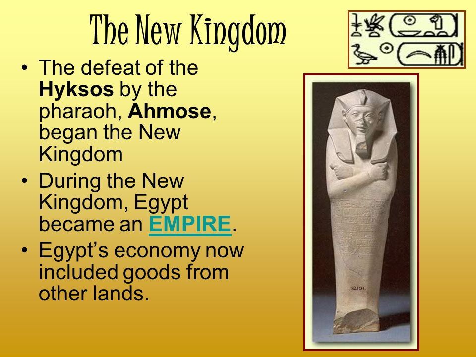 the changes that came with the new kingdom of egypt The new kingdom (c 1570- c1069 bce (such as prevailed in the new kingdom) with the disunity that came before it j j (2016, october 07) new kingdom of egypt.