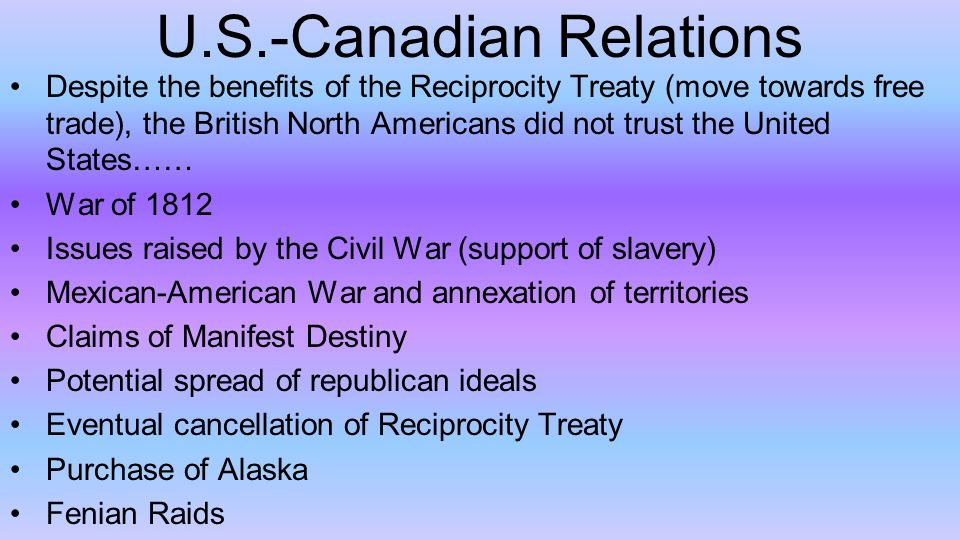 canadian american relations essay View essay - essay on canada-us relations in the post 911 world from his 311 at university of toronto canada-us relations in the post-9/11 world professor robert bothwell his311 canadian external.