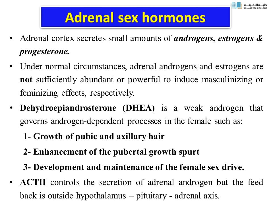 Adrenal Sex Hormones 111