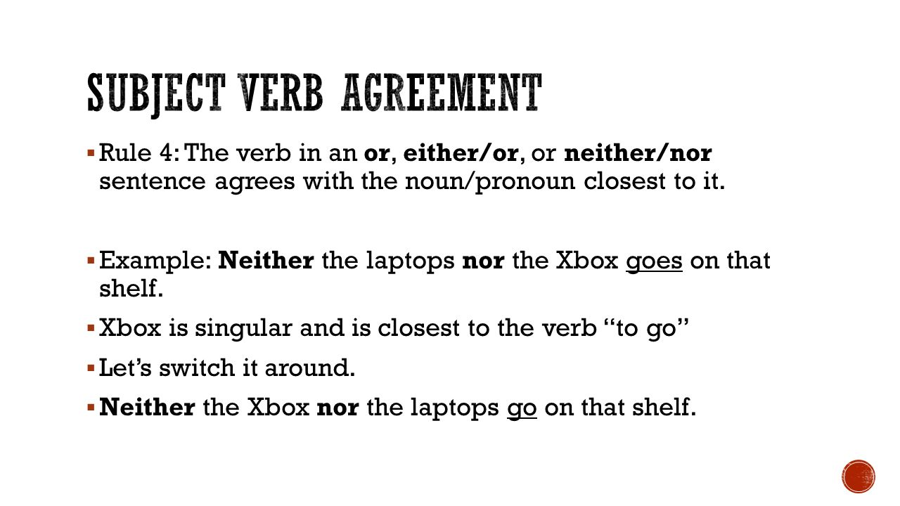 Subject Verb Agreement Examples Green Communities Canada