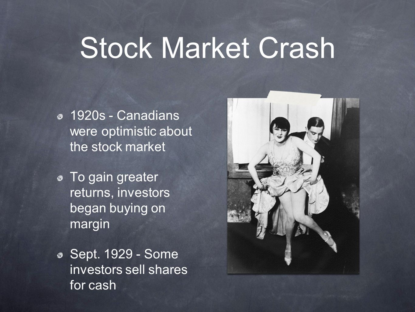 """The Stock Market Crash """"And we all fall down..."""". - ppt ..."""