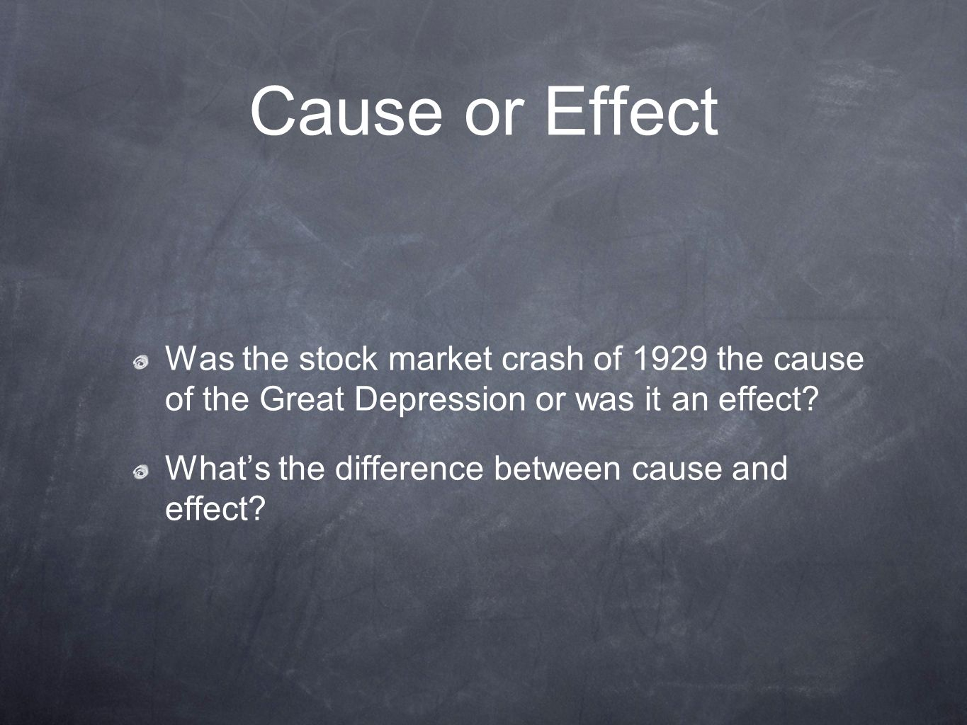 Cause and Effect Essay Example: Great Depression