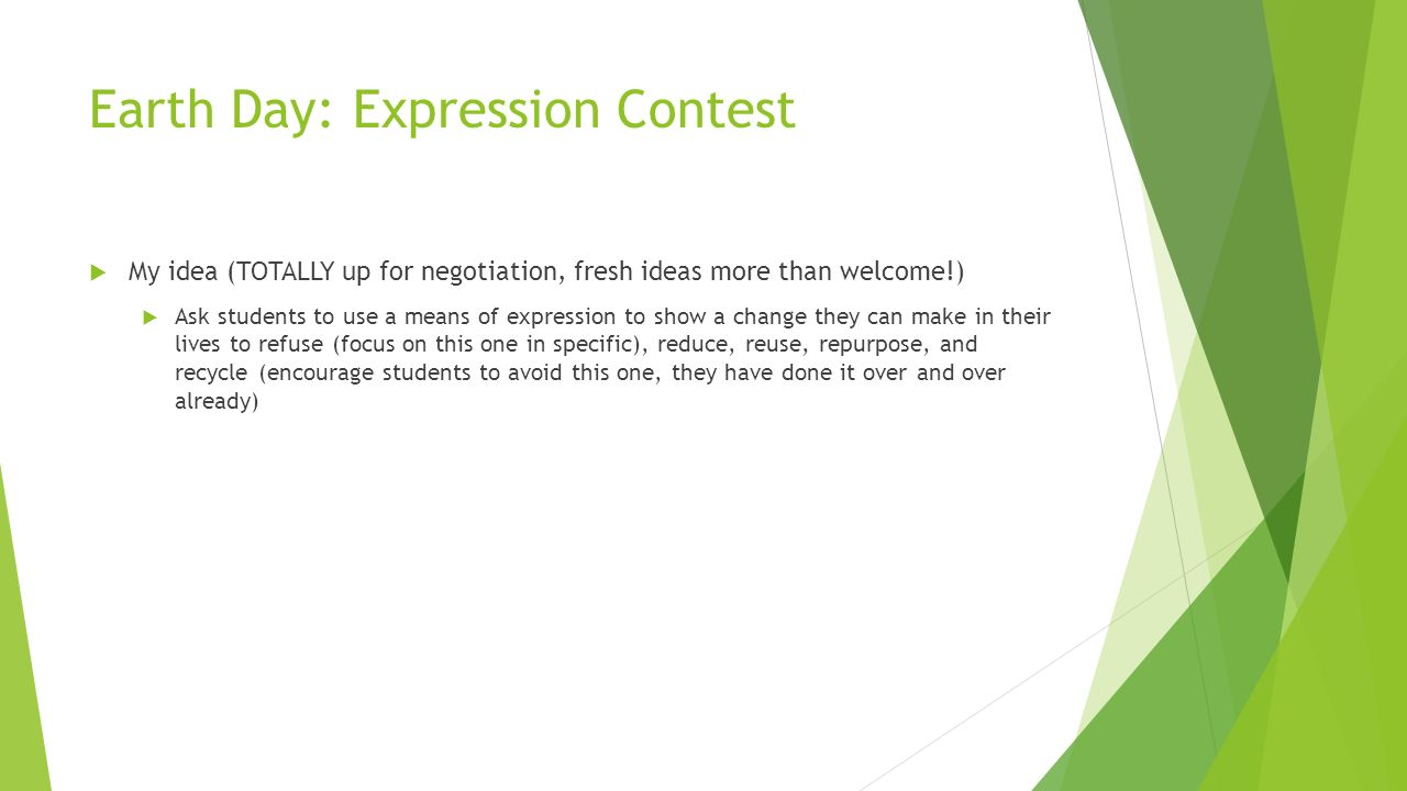 Earth Day: Expression Contest