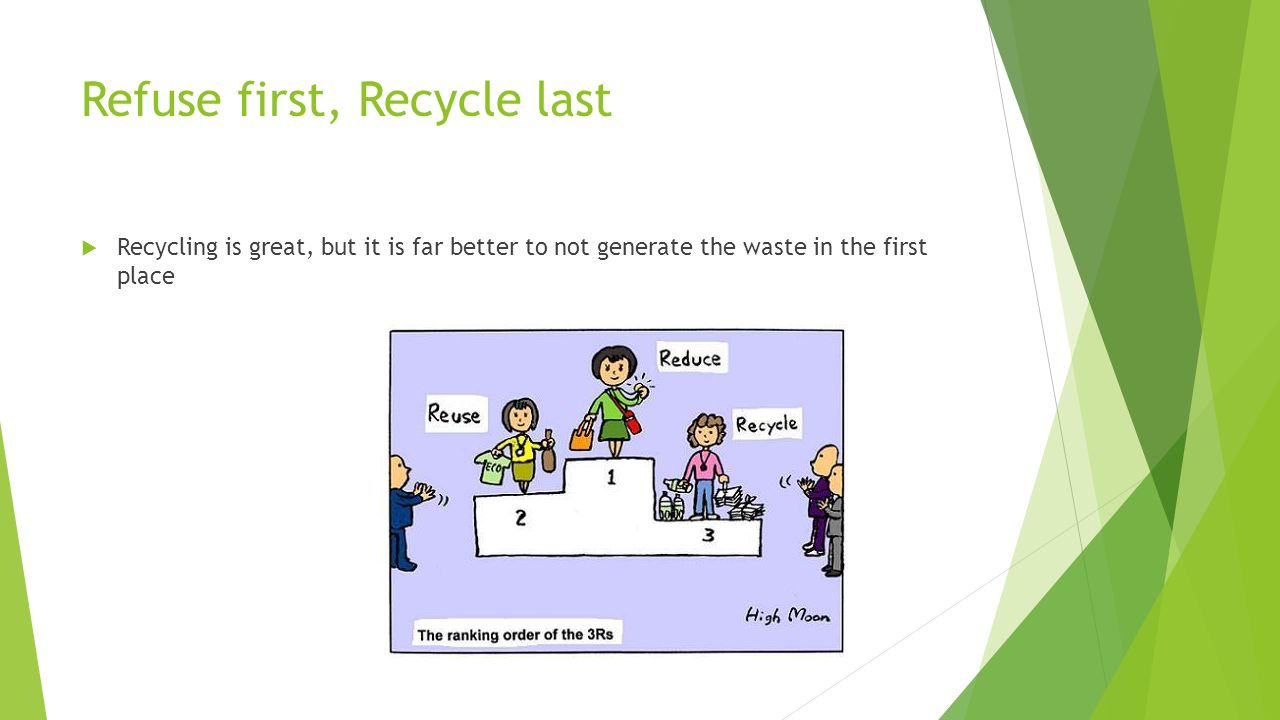 Refuse first, Recycle last
