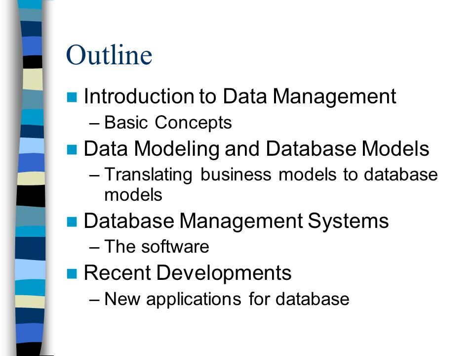 system concepts for data modeling Query language in object-relational dbms • oo data model vs other data  models • some problems in oo data model • inheritance conflicts in oo systems.